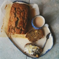Salted Honey Mascarpone Banana Bread