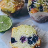Blueberry Lime Coconut Muffins
