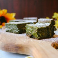 White Chocolate Honey Matcha Mochi Cake