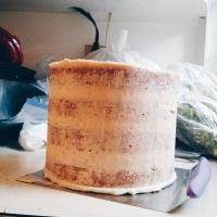 Making the Wedding Cake   Congrats EG & MX!