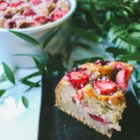 Strawberry Pearl Yogurt Cake