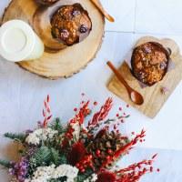 Cranberry Pumpkin Gingerbread Muffins